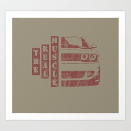 The real muscle - American Muscle car design - Perfect Gift for Car Enthusiasts Art Print