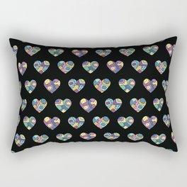 patchwork hearts Rectangular Pillow