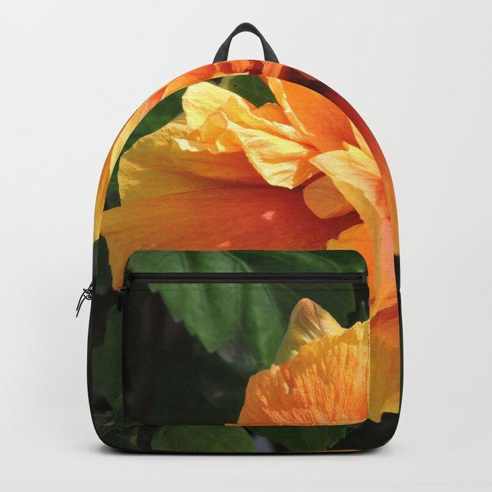 The Golden Double Hibiscus Next Door Backpack