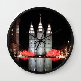 LDS Temple Square - Salt Lake City, Utah Wall Clock
