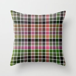 Pink Roses in Anzures 3 Plaid 2 Throw Pillow