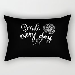 Smile tee shirt Happy Laughing Humor Funny Gift Rectangular Pillow