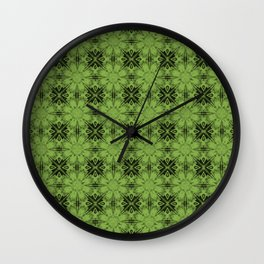 Greenery Floral Geometric Wall Clock