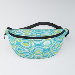 Elegant Abstract in Teal and Green Fanny Pack