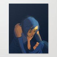 korrasami Canvas Prints featuring Korrasami by IrisPencil