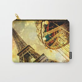 pariS. : Eiffel Tower & Ferris Wheel Carry-All Pouch
