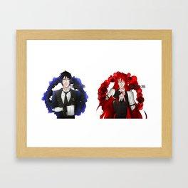 Black Butler {Demon & Reaper} Framed Art Print