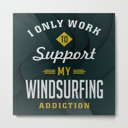 Windsurfing Extreme Sport Metal Print