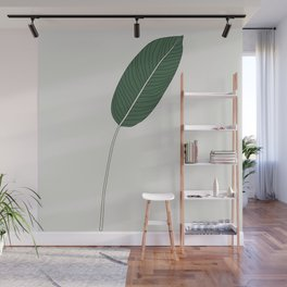 Bird of Paradise Leaf Illustration Wall Mural