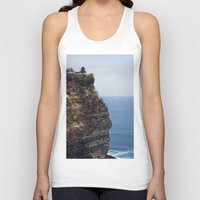 bali Tank Tops featuring Uluwatu Temple Bali by Rachel's Pet Portraits