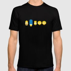 The Simpsons Black Mens Fitted Tee SMALL