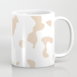 Large Spots - White and Pastel Brown Coffee Mug