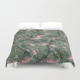 monstera leaf  Duvet Cover