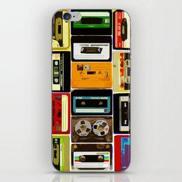 Retro Music Cassette Tapes - In Color iPhone Skin