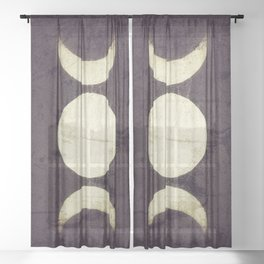 Triple Moon Goddess Sheer Curtain