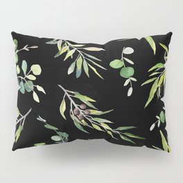 Eucalyptus and Olive Pattern  Pillow Sham