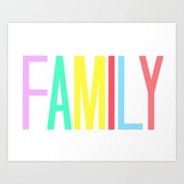 FAMILY bright colors 8x10 Art Print