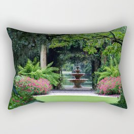 Focal Point In The Garden Rectangular Pillow