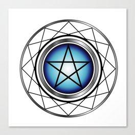 Glowing Pentagram Canvas Print