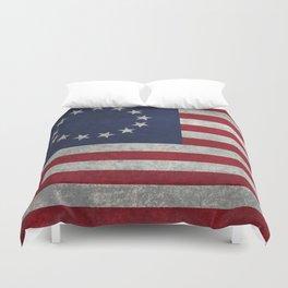 USA Betsy Ross flag - Vintage Retro Style Duvet Cover