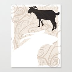 Farm Poster #1 -Goats Canvas Print