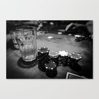 poker Canvas Prints featuring Poker Time by Eduard Leasa Photography