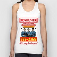 ghostbusters Tank Tops featuring Ghostbusters Advertisement by Silvio Ledbetter