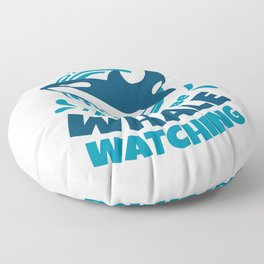 I'd Rather Be Whale Watching Floor Pillow