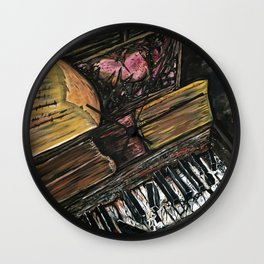 Broken Piano Wall Clock