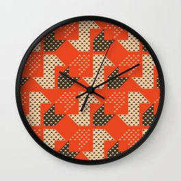 Clover&Nessie Apple/Choco Wall Clock