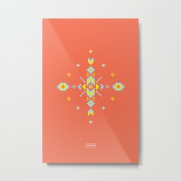 Aztek Metal Print