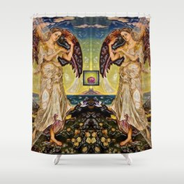 "Eos -  ""Angels"" Evelyn de Morgan Pop Art by Jéanpaul Ferro Shower Curtain"