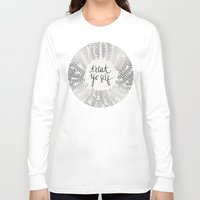 treat yo self Long Sleeve T-shirts featuring Treat Yo Self – Silver by Cat Coquillette