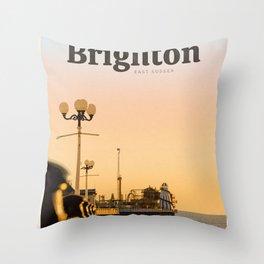 Visit Brighton  Throw Pillow