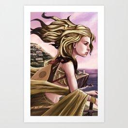 Meeka overlooking Sea Sky Art Print