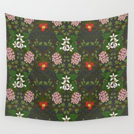 Winter Flowers Wall Tapestry