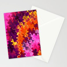 Firey Orange Psychedelic Swirls Stationery Cards