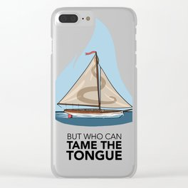 #5 Who Can Tame the Tongue Clear iPhone Case