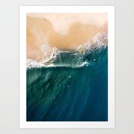 Bliss - Aerial Drone Photograph by Nalu Art Studio Art Print