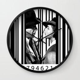 Inside a Barcode. Wall Clock