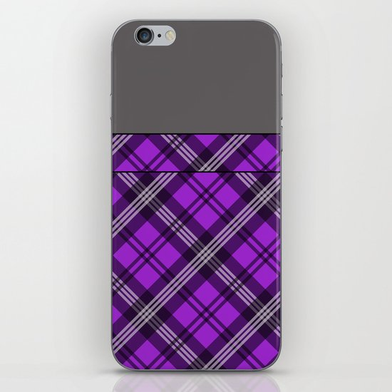 Scottish Plaid (Tartan) - Purple iPhone & iPod Skin