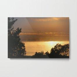 Sunrise - Tamar River - Tasmania Metal Print