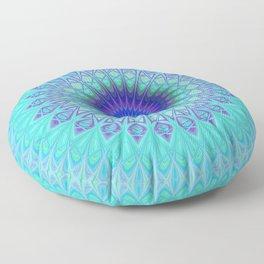 Frozen mandala Floor Pillow
