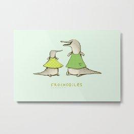 Frockodiles Metal Print