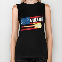 Shirt For Guitar Lover. Gift From Kids. Biker Tank