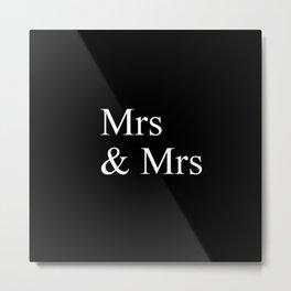Mrs & Mrs Monogram Metal Print