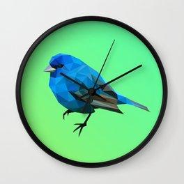 Poly blue bird Wall Clock