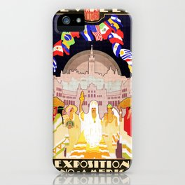Seville Hispano American Expo 1929 art deco ad iPhone Case