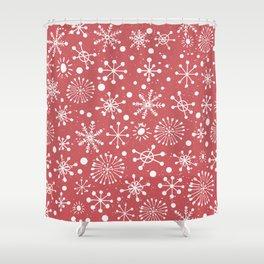 Hand Drawn Snowflakes Shower Curtain