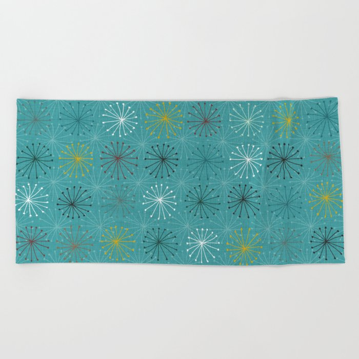 seedheads blue Beach Towel